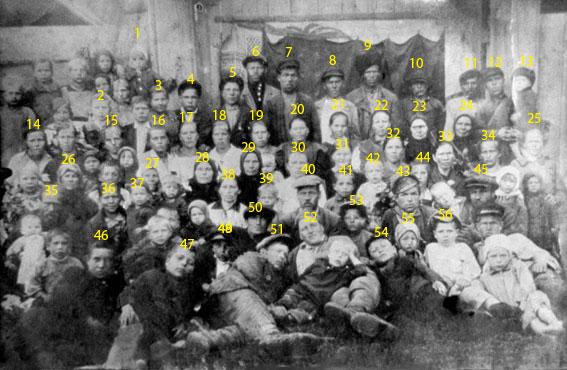 Жители деревни Филатово, 1935 г.